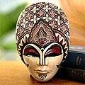 Wood 'Prince Sun' Batik Mask (Indonesia)