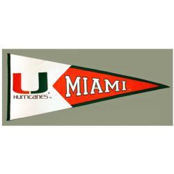 Miami Hurricanes Classic Wool Pennant