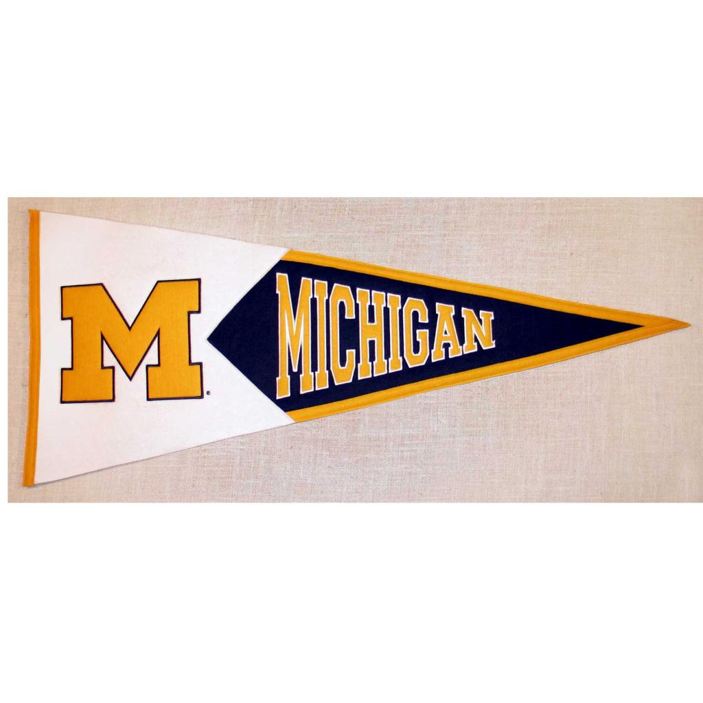 Michigan Wolverines Classic Wool Pennant