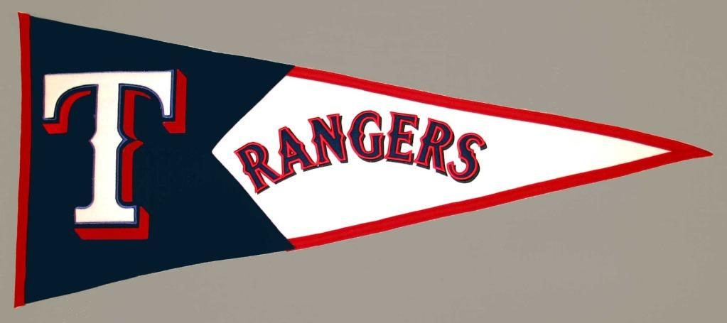 Texas Rangers Classic Wool Pennant