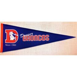Denver Broncos Throwback Wool Pennant