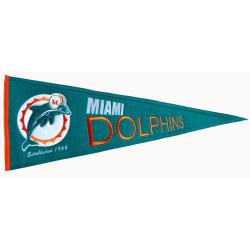 Miami Dolphins Throwback Wool Pennant