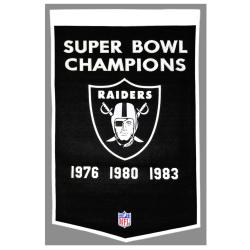 Oakland Raiders NFL Dynasty Banner