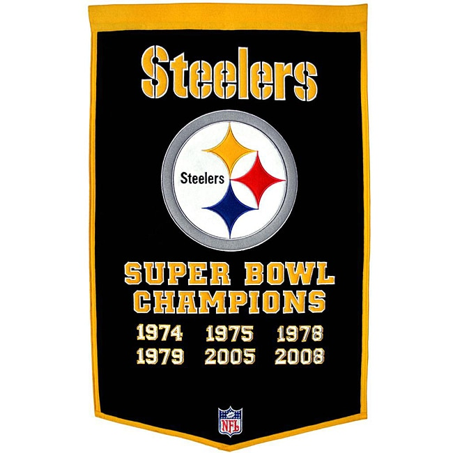 Pittsburgh Steelers NFL Dynasty Banner