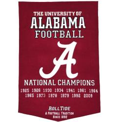 Alabama Crimson Tide NCAA Football Dynasty Banner