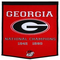 Georgia Bulldogs NCAA Football Dynasty Banner
