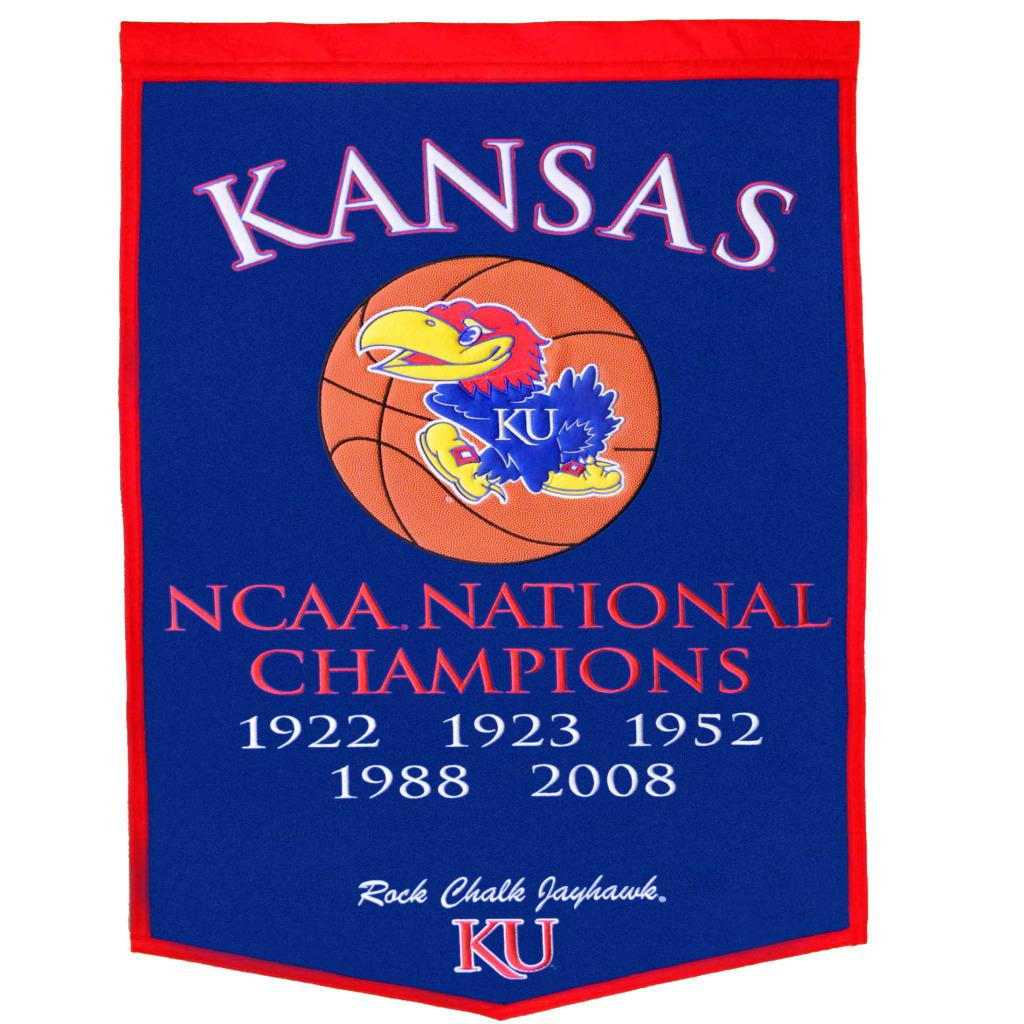 Kansas Jayhawks NCAA Basketball Dynasty Banner