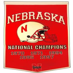 Nebraska Corn Huskers NCAA Football Dynasty Banner