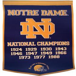 Notre Dame Fighting Irish NCAA Football Dynasty Banner