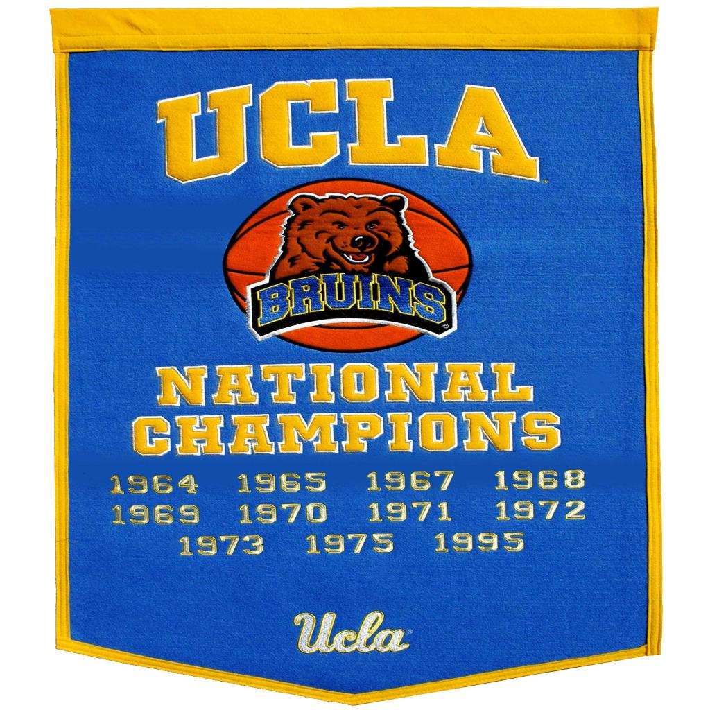 UCLA Bruins NCAA Basketball Dynasty Banner