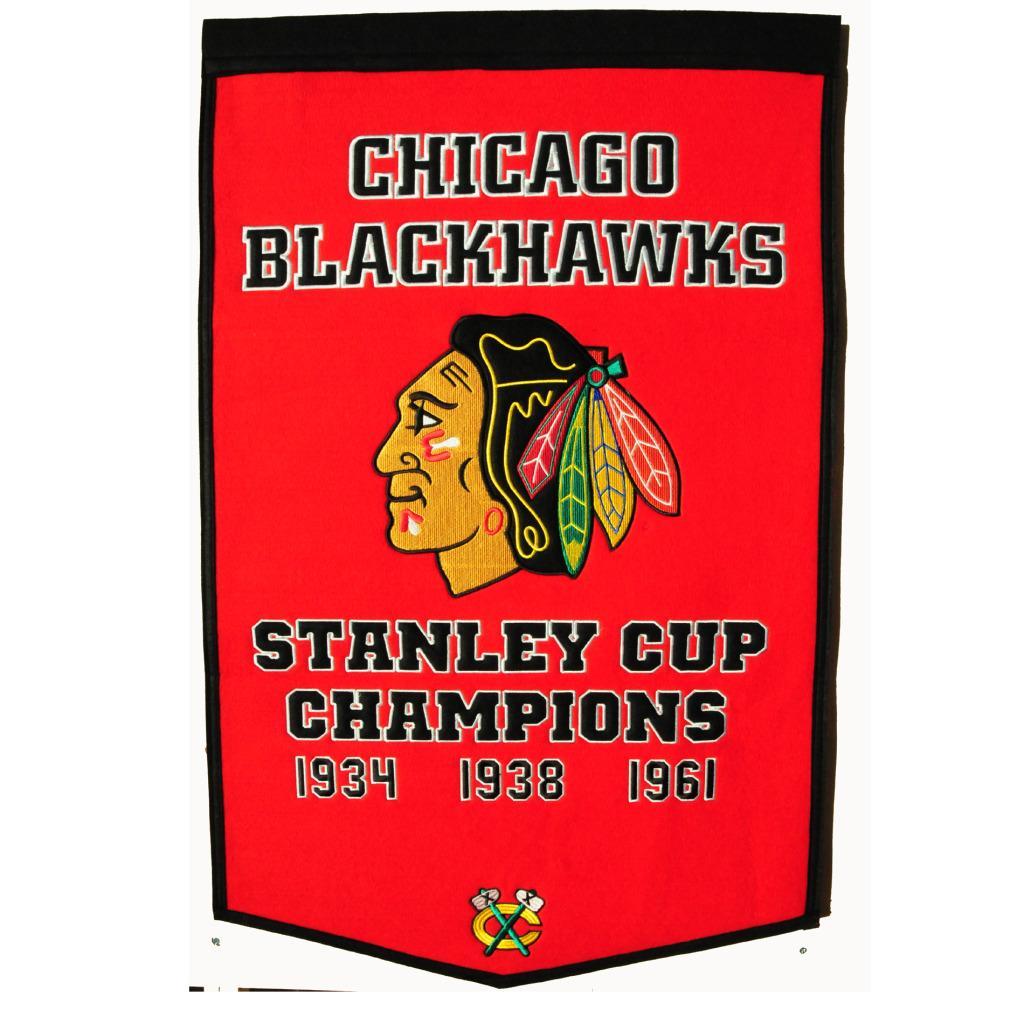 Chicago Blackhawks NHL Dynasty Banner