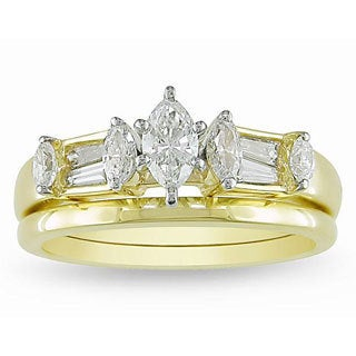 Miadora 14k Yellow Gold 3/5ct TDW Diamond Bridal Ring Set (G-H, I1-I2)
