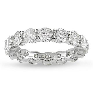 Miadora 18k White Gold 5ct TDW Certified Diamond Full Eternity Ring (G-H, I1-I2)