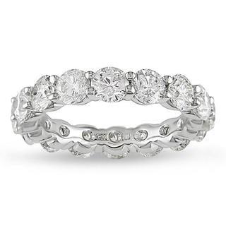 Miadora 18k White Gold 5ct TDW Certified Diamond Full Eternity Ring (G-H, I1-I2)