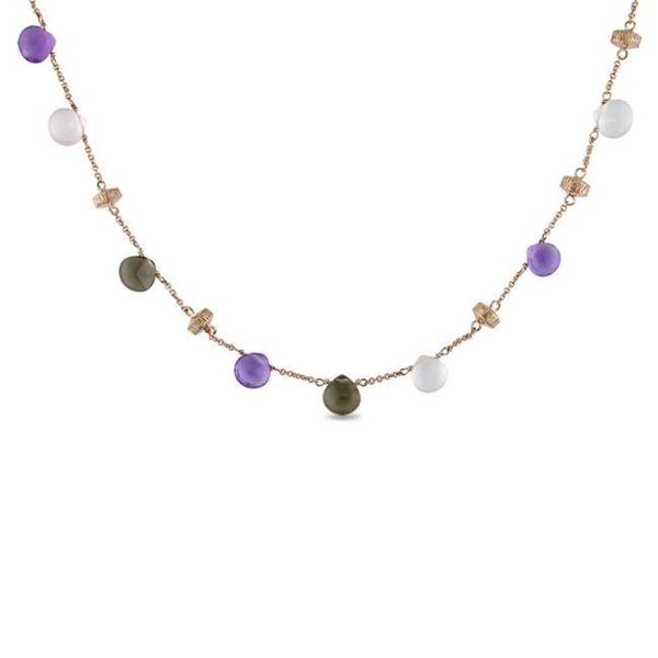 Miadora 14k Pink Gold Multi-gemstone Necklace