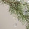 Hand-crafted Seasonal Brass/Glass Crystal Pendant Ornament (India)