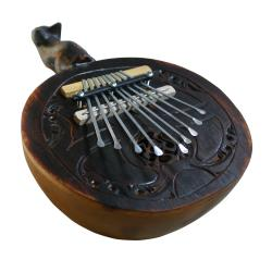 Large Gourd and Wood 9-key Kalimba (Indonesia)