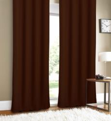 Luxury Linen Chocolate 88-inch Curtain Panel