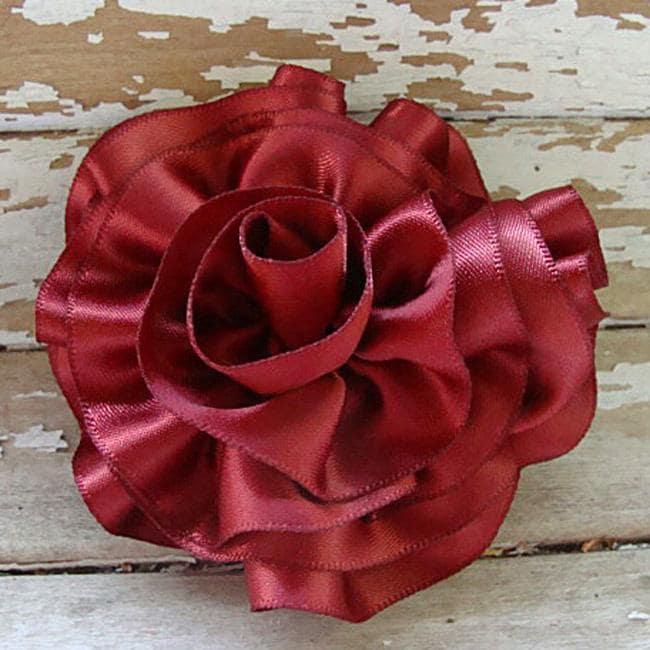 how to make satin ribbon rose