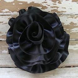 Satin Ribbon Rose Brooch