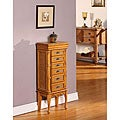 Mandalay Light Brown 6-drawer Jewelry Armoire