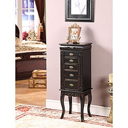 Morrisa Black 6-drawer Jewelry Armoire