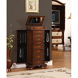 Malard Coffee 8-Drawer Jewelry Armoire