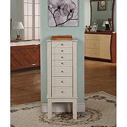 Winter White 6-Drawer Jewelry Armoire
