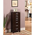 Charging Mahogany 7-Drawer Jewelry Armoire