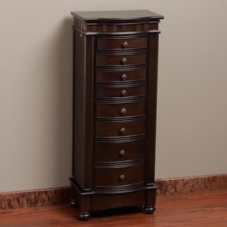 Muscatto Coffee 8-drawer Storage Jewelry Armoire