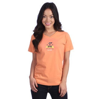 Coed Sportswear Women's 'Breathe Easy' Melon V-neck Tee