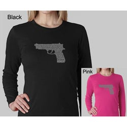 Los Angeles Pop Art Women's Gun Long-sleeved Top