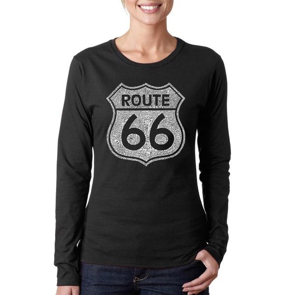 Los Angeles Pop Art Women's Route 66 Long-sleeved Top