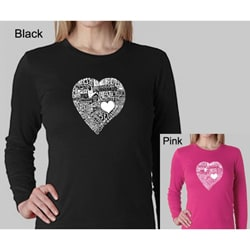 Los Angeles Pop Art Women's Heart Long-sleeved Top