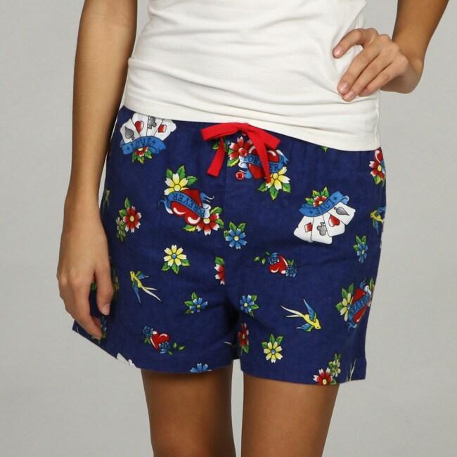 Leisureland Women's Tattoo Print Boxer Shorts