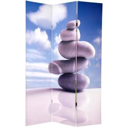 Canvas 6-foot Double-sided Zen Room Divider (China)