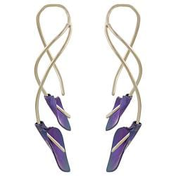 Goldfill, Alloy and Niobium Calla Lily Earrings