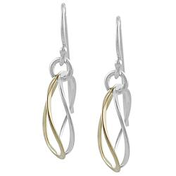 Journee Collection Sterling Silver and Goldfill Dangle Earrings