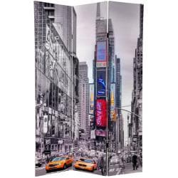 Canvas 6-foot Double-sided New York Taxi Room Divider (China)