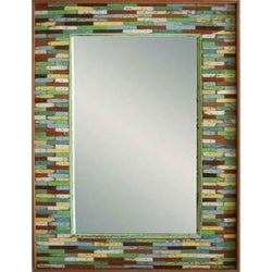 Boat Wood Jigsaw Framed Mirror (Thailand)