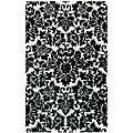 Hand-Tufted Fenway Black Wool Rug (5' x 8')