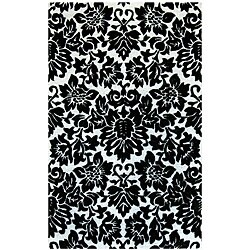 Hand-tufted Fenway Black Wool Rug (8' x 11')