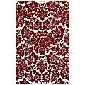 Hand-Tufted Fenway Red Wool Rug (5' x 8')
