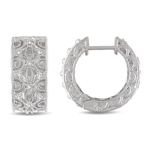 Haylee Jewels Sterling Silver 1/4ct TDW Diamond Earrings (G-H, I2-I3)