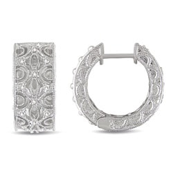 Miadora Sterling Silver 1/4ct TDW Diamond Earrings (G-H, I2-I3)