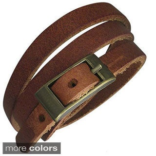 Genuine Leather Brown 'Serpent' Bracelet