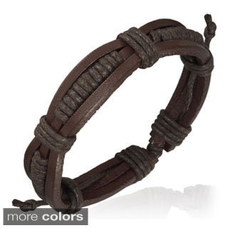 Genuine Leather Brown 'Unity' Bracelet