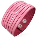 Genuine Leather 'Pretty in Pink' Bracelet