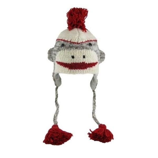Knitwits Adult Sock Monkey Wool Hat
