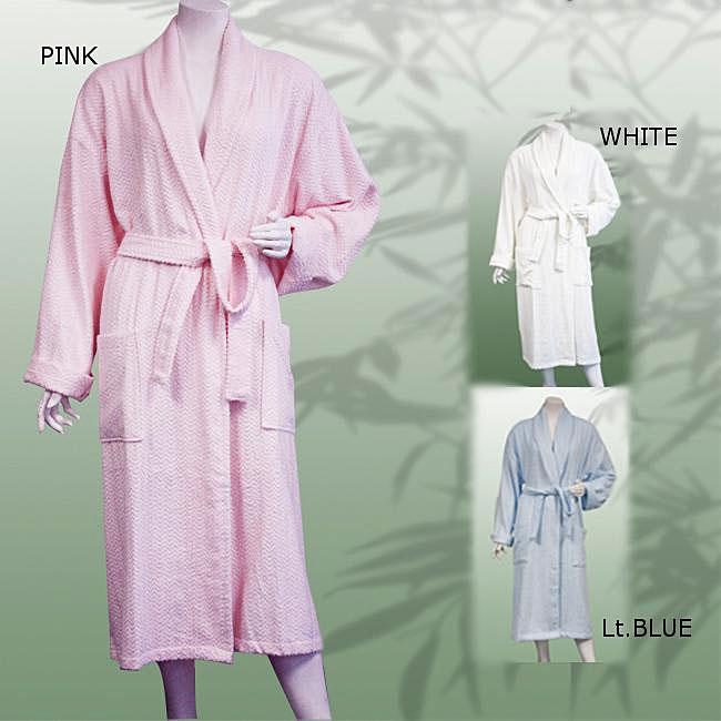 Leisureland Women's 47-inch Jacquard Bath Robe